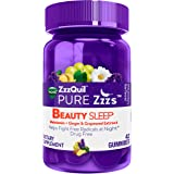 ZzzQuil Pure Zzzs Beauty Sleep Melatonin Gummies, 42 ct, Sleep Aid with Ginger, Grape Seed Extract, Chamomile and…