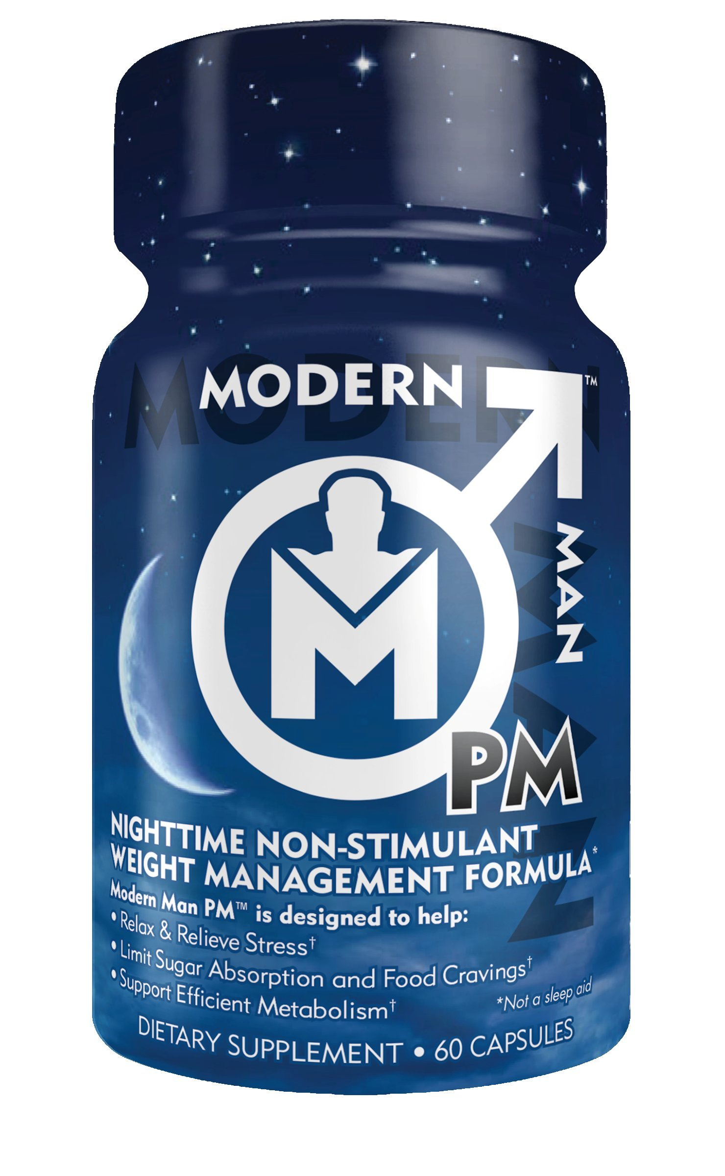 Modern Man PM Fat Burner - Sleep Aid, Weight Loss & Testosterone Booster for Men, Best Night Time Metabolism Booster & Caffeine Free Sleep Supplement | Burn Belly Fat & Build Lean Muscle, 60 Pills by Modern Man Products