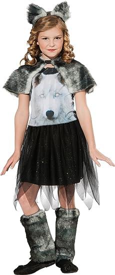 amazon com twilight wolf costume girl s wolf costume 5 7 years