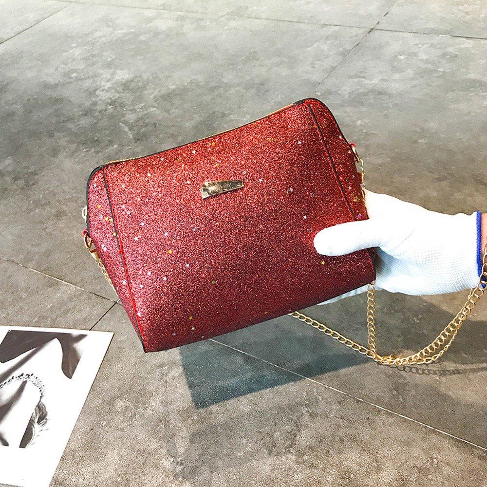 Bolsos de Hombro Casual con Lentejuelas y Conchas de Las Mujeres Paquete de Cuero Pequeño de Moda Bolsos Totes de Señoras Bolsos Bandolera para ...