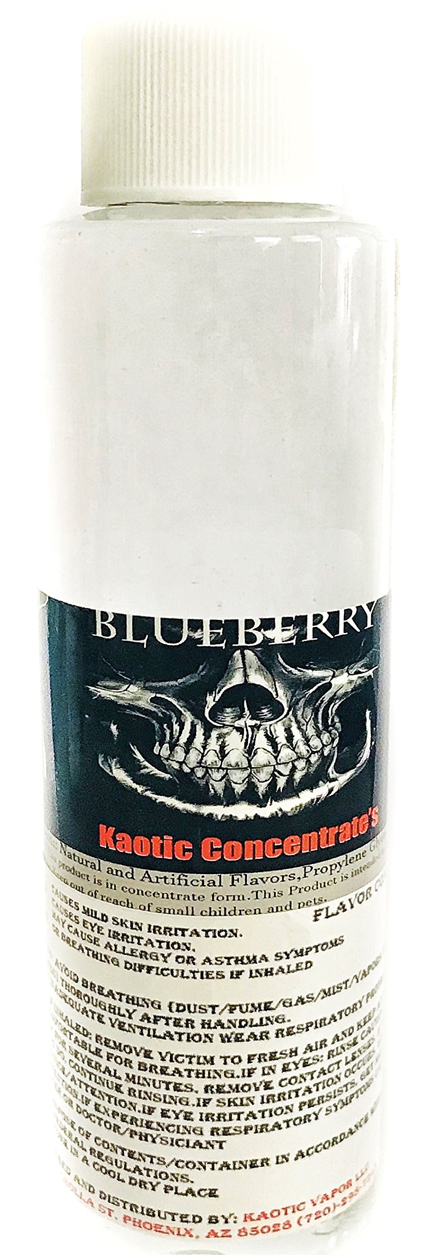 Kaotic Flavor Concentrate's, Food Grade, USA 4 oz Bottle (Blueberry)