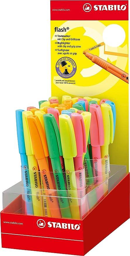 Stabilo 555/40 – 1 flash – Subrayador de colores (Pack de 5 ...