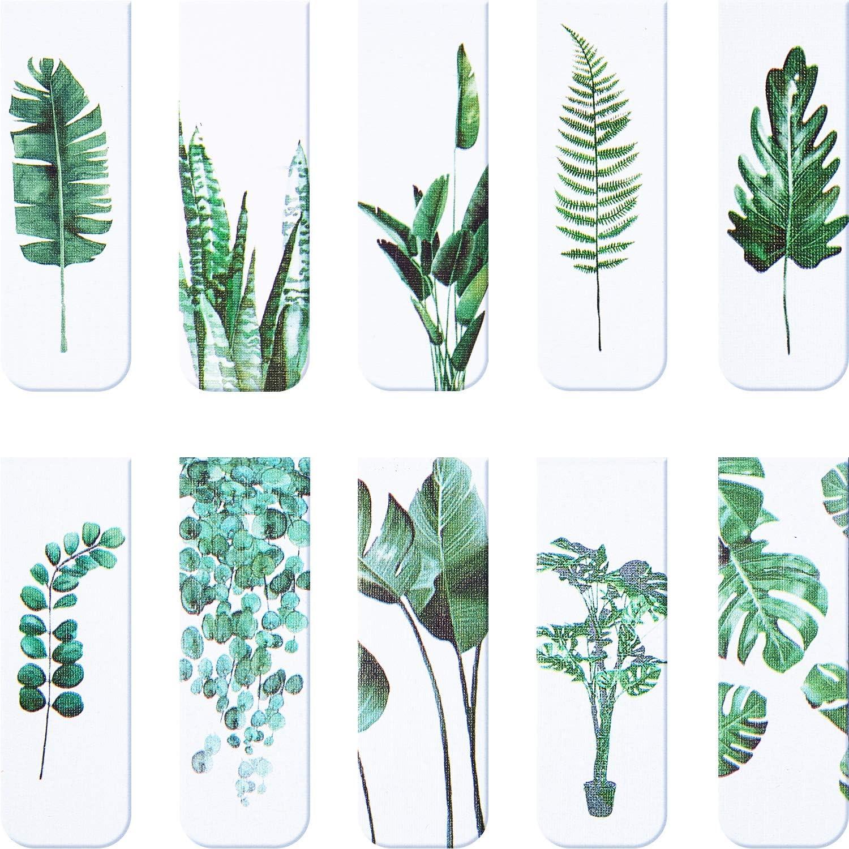 Señaladores de libros magnetico, plantas (Pack de 10)