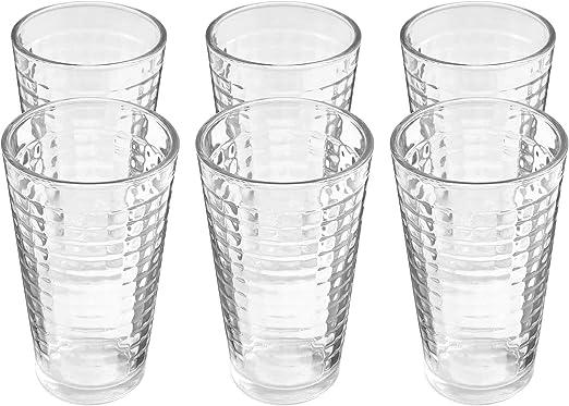 Amethya Trinkglas für Getränke (500ml, 6er Pack): Amazon.es: Hogar