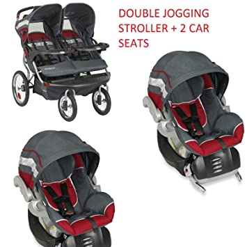 Baby Trend Navigator Baltic Double Jogger 2 Car Seats