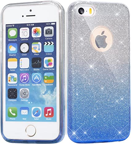 Einfho Coque iPhone Se, Coque iPhone 5/5S, 2 in 1 Design créatif ...