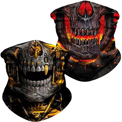 ba3578433b000 NTBOKW Skull Face Mask Bandana for Sun Dust Wind UV Protection Mask for  Motorcycle Riding Fishing Hunting Festival Outdoor Summer Seamless Mask ...