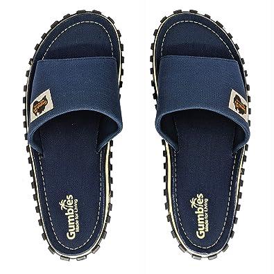 85f297372475 Gumbies - Islander Canvas Slide - Navy  Amazon.co.uk  Shoes   Bags