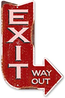 product image for Surf To Summit Handcrafted Vintage Right Exit Arrow Aluminum Dibond Sign