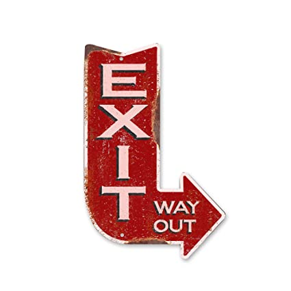 amazon com handcrafted vintage right exit arrow steel sign home