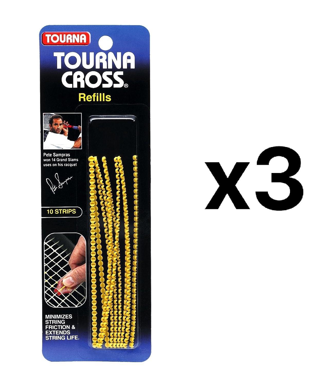 Unique Tourna Cross Sampras Tennis Racquet String Saver-Refills-10 Pack (3-Pack) Unique Sports