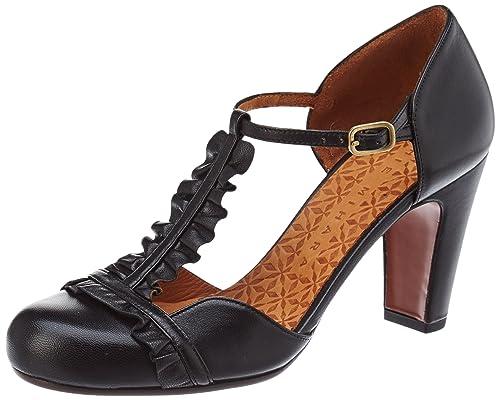 Quietly, Womens T-Bar Heels, Black (Maitai Negro), 8 UK (41 EU) Chie Mihara