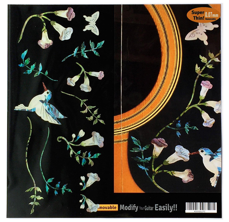 Inlay Sticker Decals for Guitar Bass - Assorted Hummingbird Set jockomo B-150AH-BL