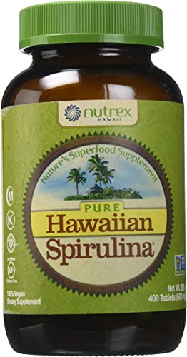 Nutrex Hawaii Pure Hawaiian Spirulina Pacifica – 500 mg – 400 Tablets