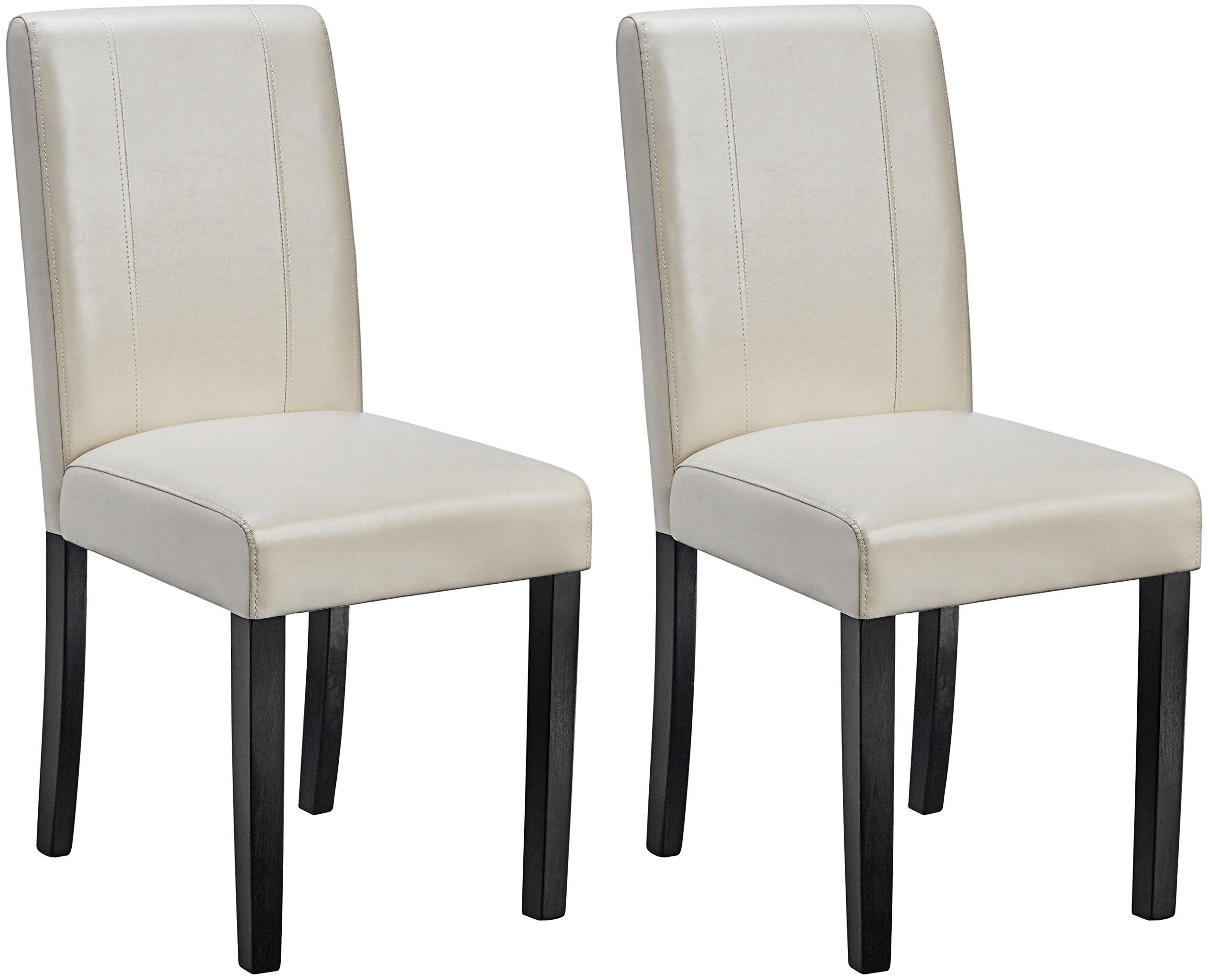 AmazonBasics Padded Dining Chair - Set of 2, Cream by AmazonBasics (Image #1)