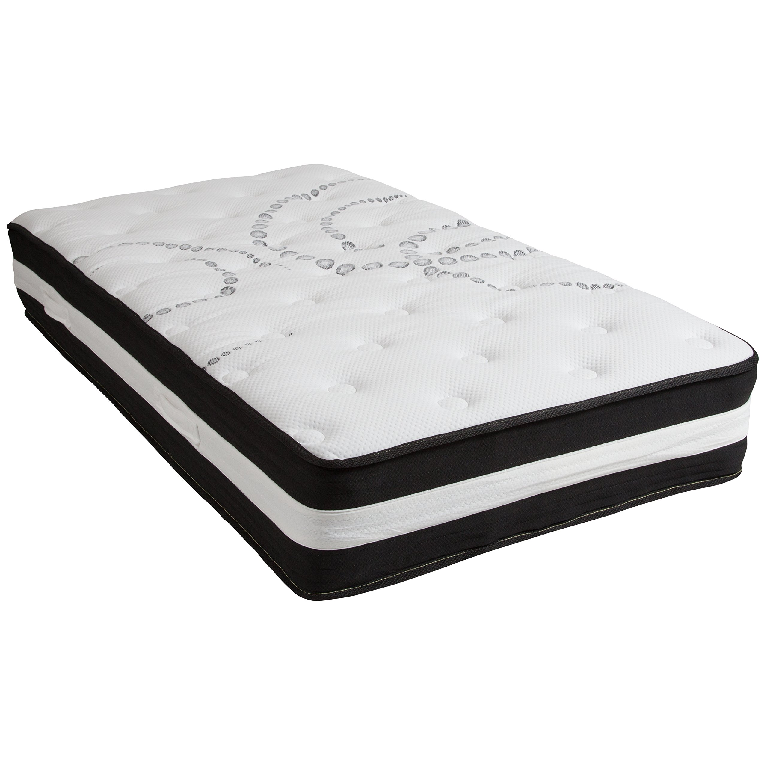Flash Furniture Capri Comfortable Sleep 12 Inch Foam and Pocket Spring Mattress, Twin in a Box