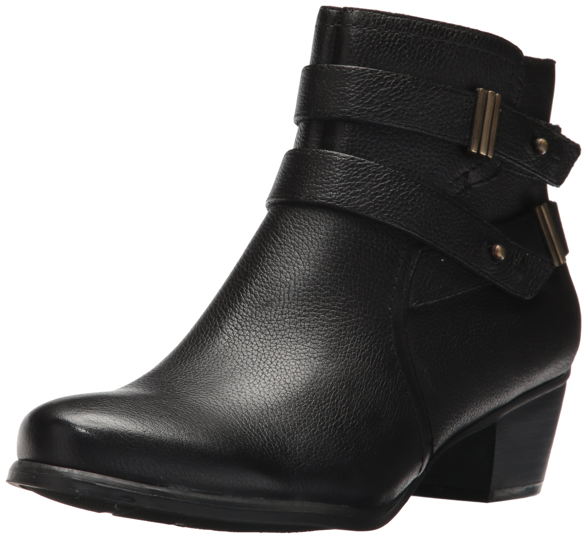 Naturalizer Women's Kepler Leather Closed Toe Ankle Fashion Boots Black Leather Size 7 W US