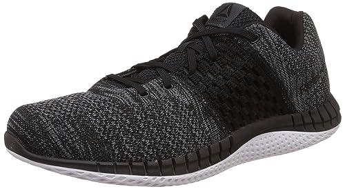 c0504d77ac6 Reebok Men s Zprint Run Clean Ultk Black Coal White Dust Running Shoes -