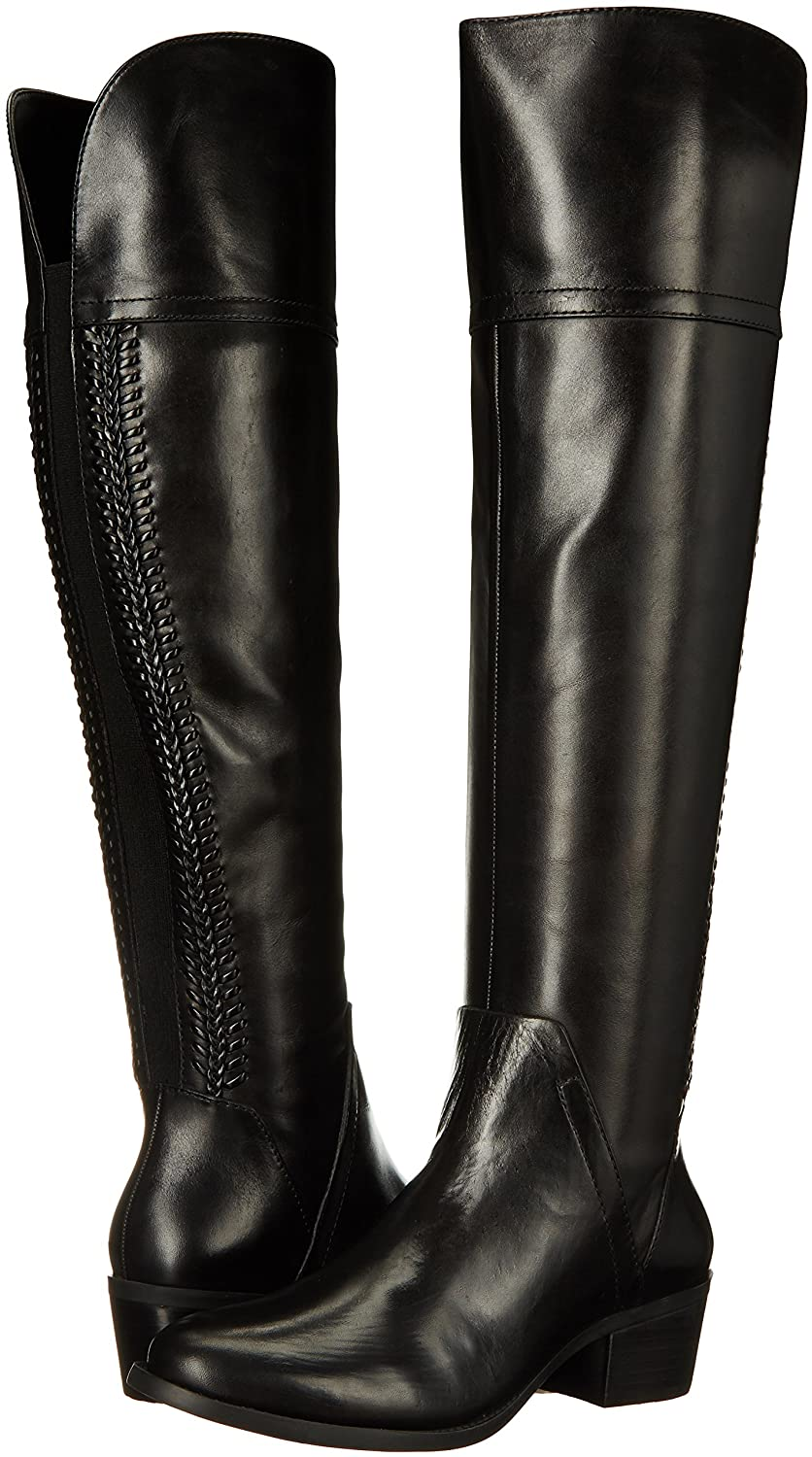 Women's Vince Camuto Bendra Black Fold Over Leather Riding Boot