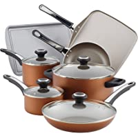 17-Piece Farberware High Performance Nonstick Cookware Pots and Pans Set (Copper)
