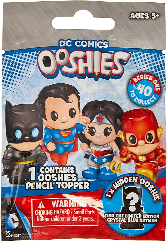 rare Ooshies DC Comics Series 1 Crystal Blue Batman Justice League Figure doll