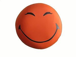 Tache Kids Squishy Micro Bead so Happy Smiley Face Emoji Throw Pillow Cushion Orange