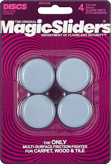 2-Set MAGIC SLIDERS 02516 Self-Adhesive 1 Round Sliding Discs 16 Pack