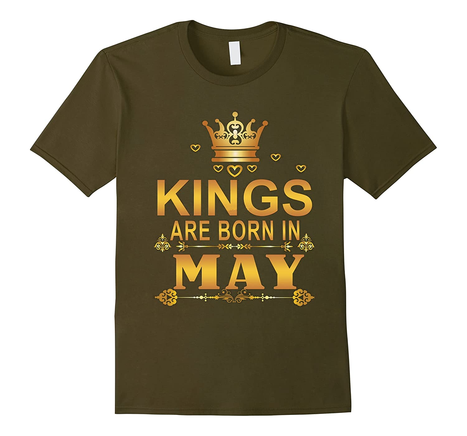 Kings Are Born In May T-shirt Gold Foil Edition Birthday-Vaci