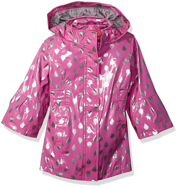 Wippette Girls' Shiny Raindrop Rain Jacket