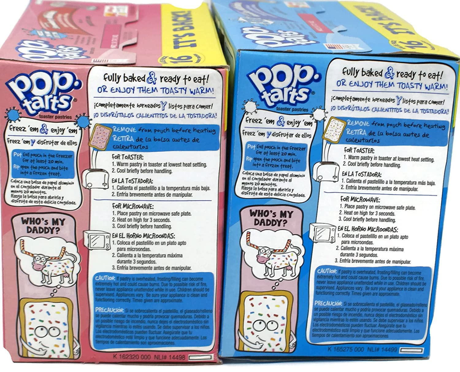 Amazon.com: Variety Pack - Kelloggs Pop Tarts Toaster Pastries (1 lb 12.2 oz) - Frosted Vanilla Milkshake, Frosted Strawberry Milkshake: