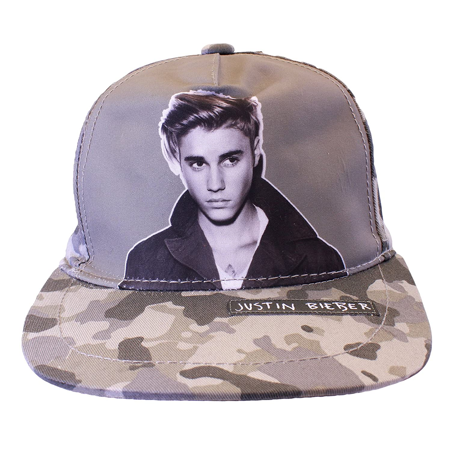 Justin Bieber Baseball Cap Camoflague One Size Hat Adjusatble Licensed