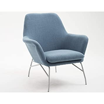 Amazing Coco Accent Chair In Old Blue Jeans With Curved Arms And Steel Legs By Artum Hill Ibusinesslaw Wood Chair Design Ideas Ibusinesslaworg