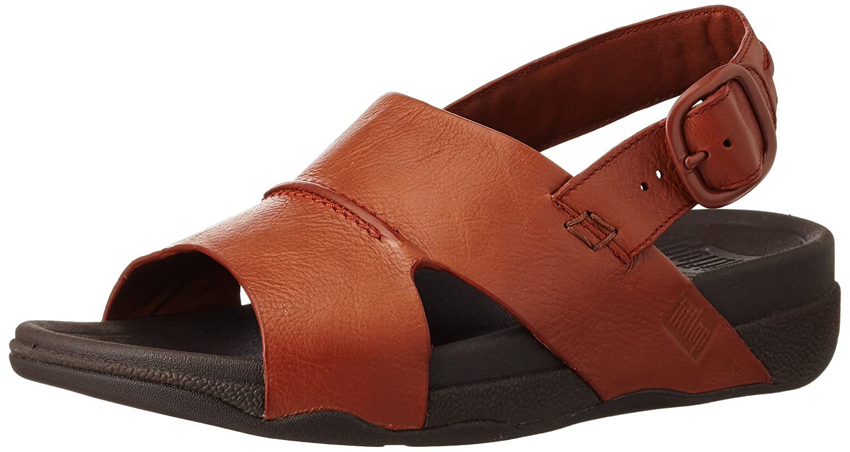 1026433426d8 Fitflop Men s Bando Leather Sandals Open-Toe  Amazon.co.uk  Shoes   Bags