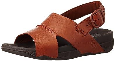 bd50bbc439e Fitflop Men s Bando Leather Sandals Open-Toe  Amazon.co.uk  Shoes   Bags