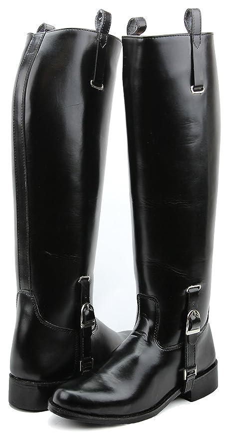 11d73250e400b Hispar Mens Man DIGNITY Dress Dressage Horse Riding Boots Stylish Fashion  Equestrian (Black, 7