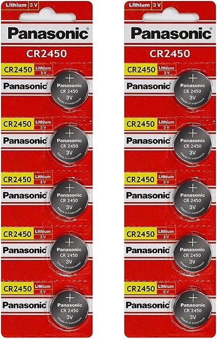 3 Volt Lithium Knopfzelle Cr2450 Von Panasonic 10 Batterien