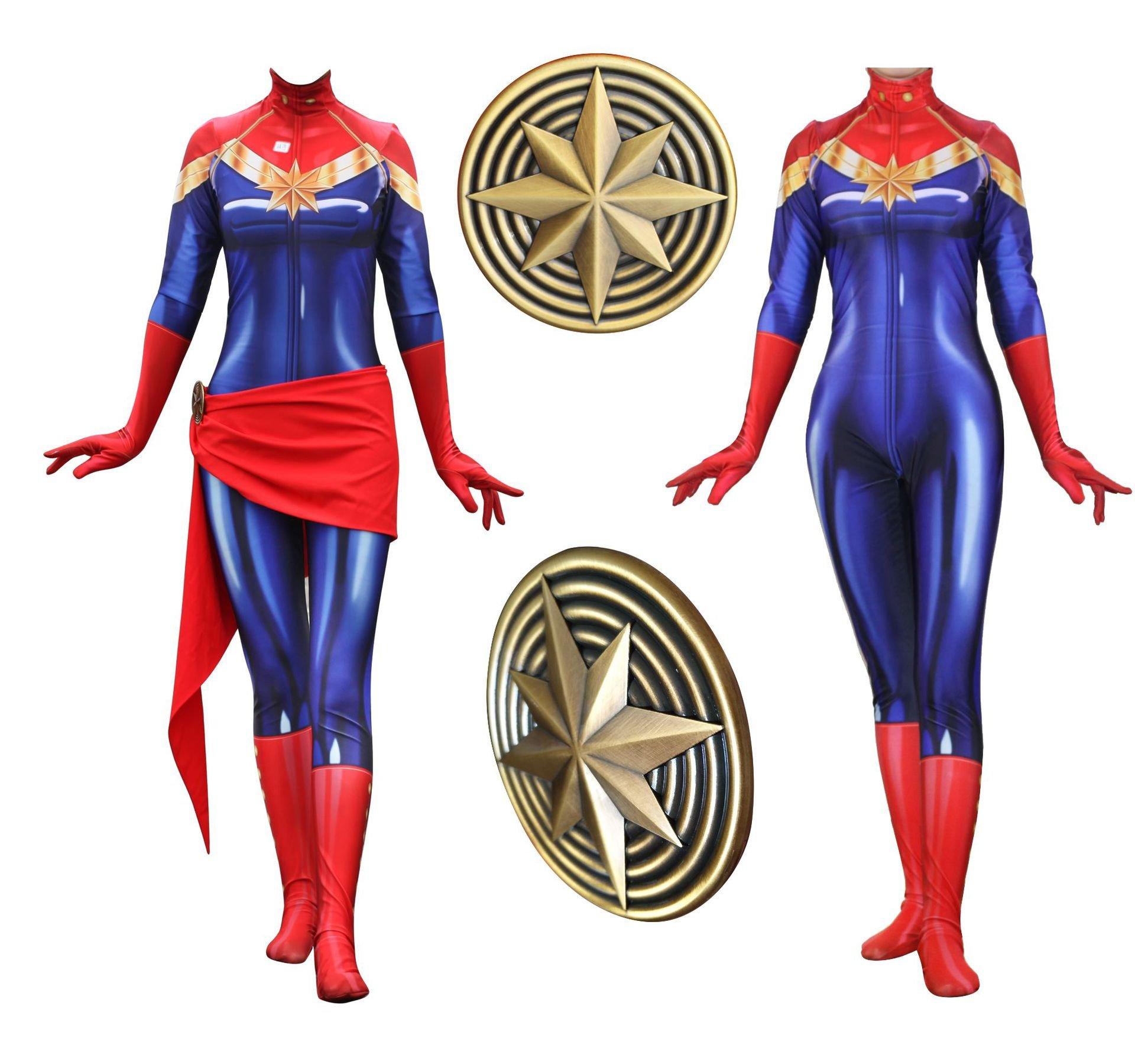 Lady Captain Suit Halloween Costume Spandex Bodysuit Zentai Cosplay Costume 81bXJN3xexL