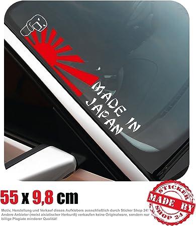 Made In Japan Frontscheibenaufkleber 55 0 Cm X 9 8 Cm Auto Aufkleber Jdm Oem Tuning Sticker Decal 30 Farben Zur Auswahl Auto