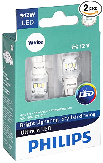 Philips 912 Ultinon LED Bulb (White), 2 Pack
