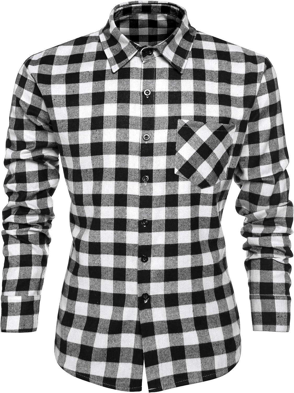 Burlady Herren Karohemd Kariert Hemd Slim Fit Trachtenhemd Super Modern super Qualit/ät f/ürs Oktoberfest geeignet