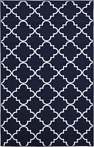 Mohawk Home Soho Fancy Trellis Geometric Lattice Printed Area Rug