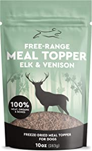 Emmy's Best Freeze Dried Dog Food Topper - Dehydrated Raw Dog Food: Elk & Venison Meal Mixers for Picky Eaters