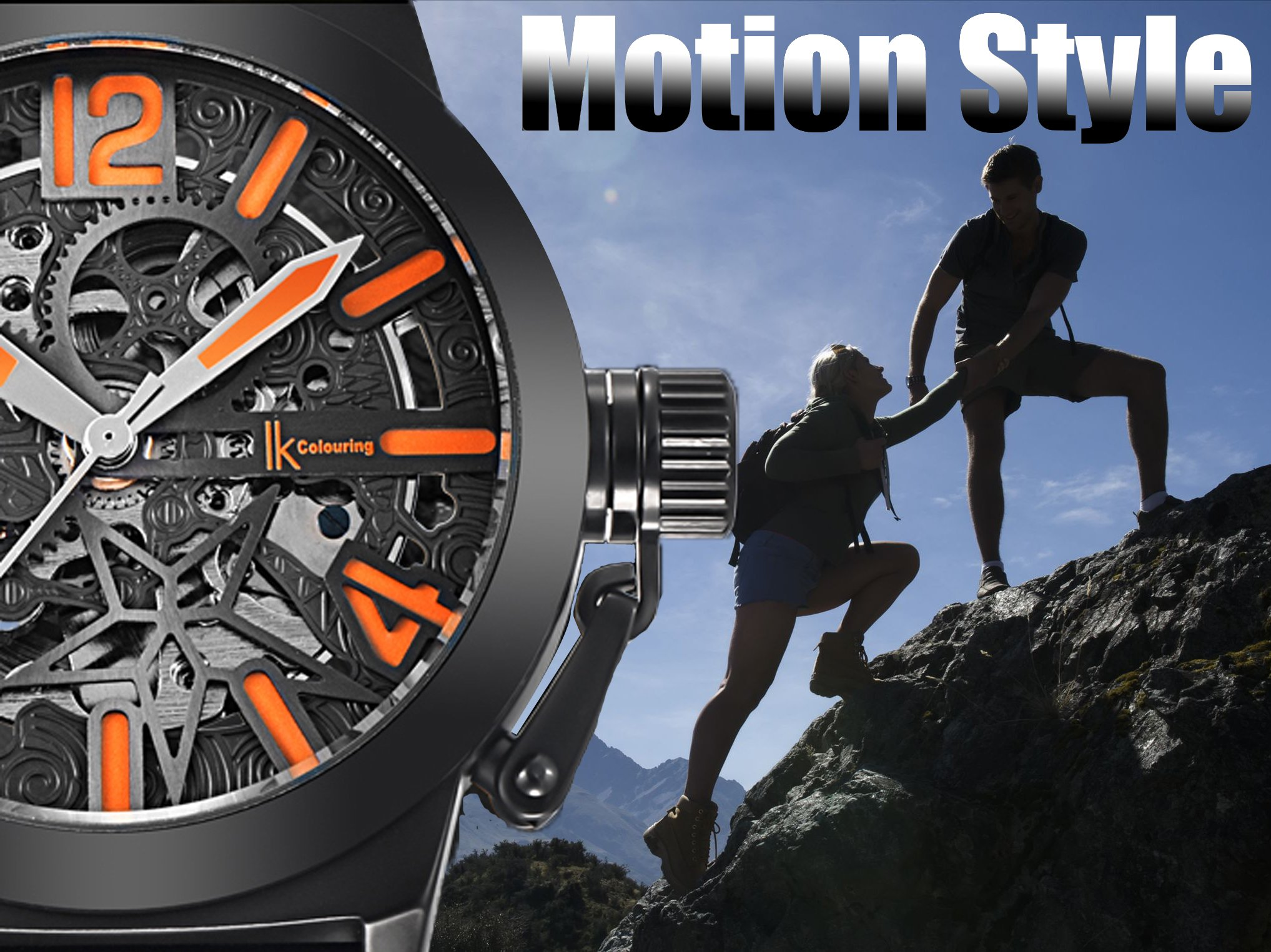 Gute Mechanical Men Automatic Watch, Motion Style Tone Self Winding Genuine Black Leather Band Watch by GLEIM (Image #6)