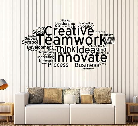 teamwork office wallpaper.  office teamwork office wallpaper large vinyl wall decal cloud words  decoration stickers ig4358 in teamwork office wallpaper e