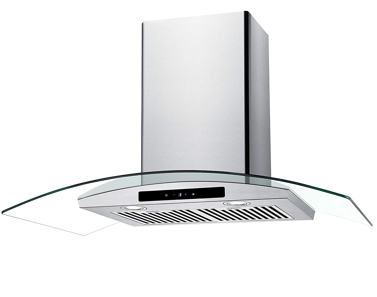 """CIARRA 36"""" Convertible Range Hood 450-CFM Ducted/Ductless with LED Lighting,Touch Control Panel,3 Venting Speeds,Reusable Filters,Stainless Steel & Tempered Glass Kitchen Cooking Fan Extractor Hoods"""