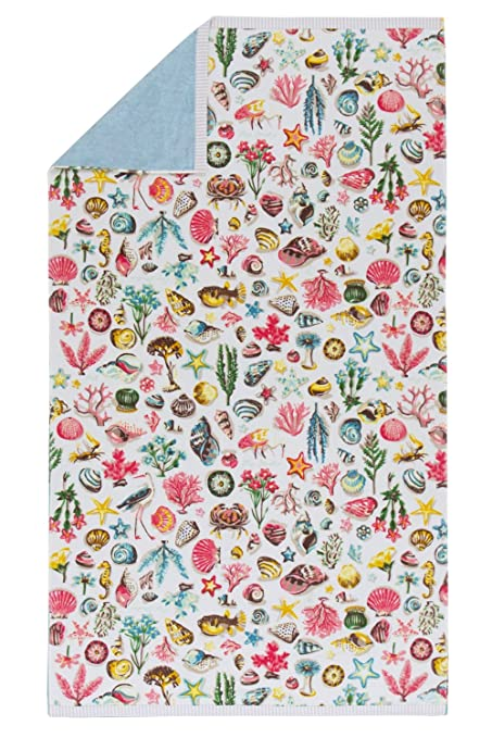Pip Studio strandlaken Little Sea, 100 x 180 cm, 100 % algodón, multicolor