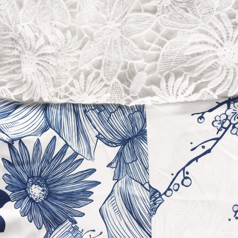 Women Lace Rompers Jumpsuit Floral Print Adjustable Strap Zipper Back Overalls