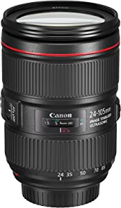 Canon EF 24–105mm f/4L IS II USM Lens, Black - 1380C002