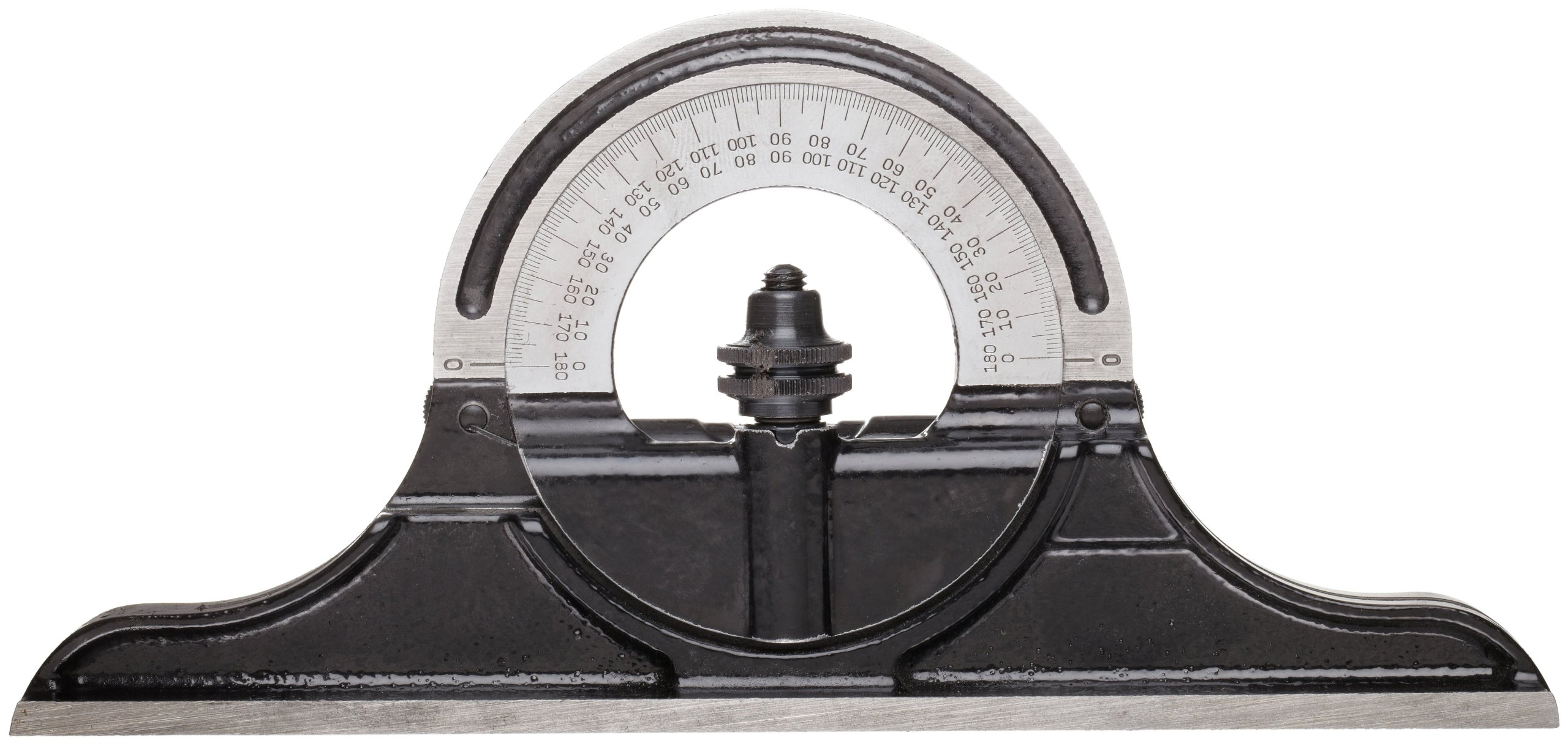 Starrett CPR-1224S Cast Iron Reversible Protractor Head For Combination Squares, Combination Sets And Bevel Protractors by Starrett