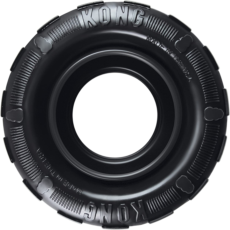 KONG - Tires - Mordedor dispensador de golosinas, en Caucho - para Perros de Raza Mediana/Grande